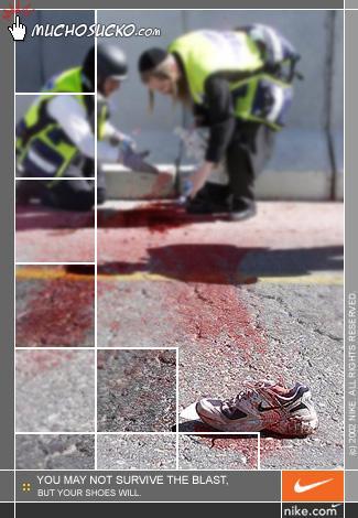 Nike, der Schuh hält!